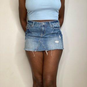 """""""Amethyst Jeans"""" Short Skirt   Size 7"""